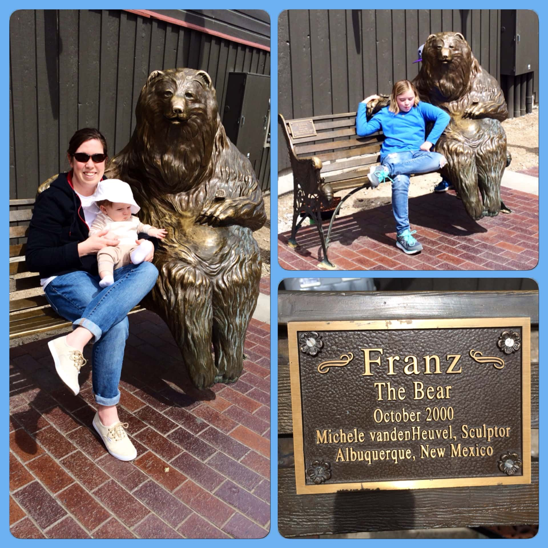 Park City Bear Bench